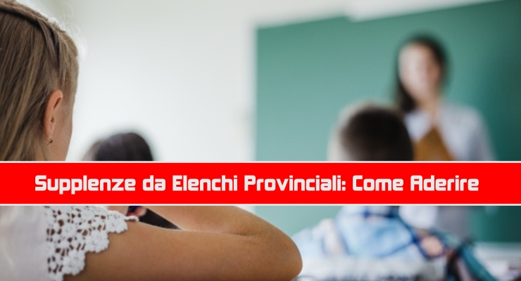 Supplenze da Elenchi Provinciali: Come Aderire
