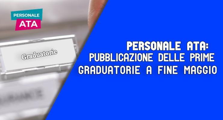 Personale ATA pubblicazione delle prime graduatorie