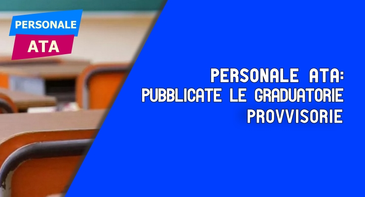 Personale ATA pubblicate le graduatorie provvisorie