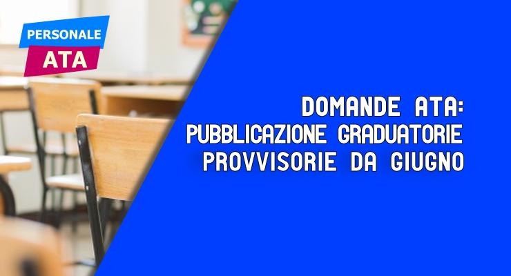 ATA pubblicazione graduatorie da giugno