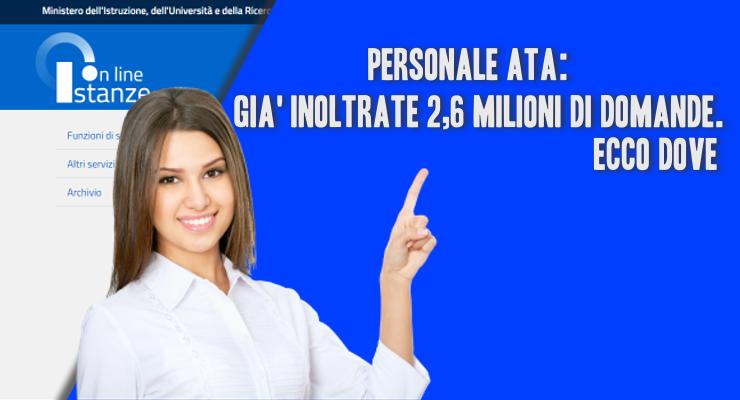 Personale ATA gi inoltrate 26 milioni di domande