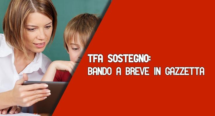TFA Sostegno bando a breve in gazzetta
