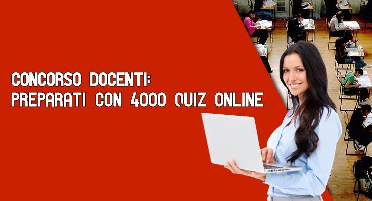 Concorso Docenti preparati con 4000 quiz online