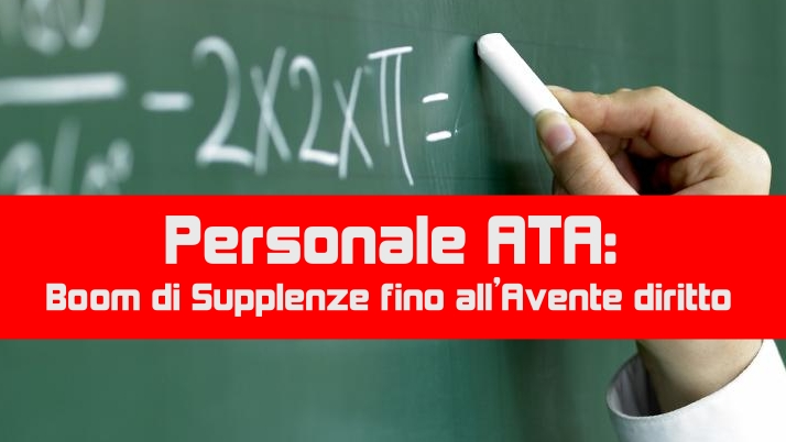 Personale ATA: Boom di Supplenze fino all'Avente diritto